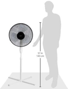 ventilador de pie barato de AmazonBasics - altura